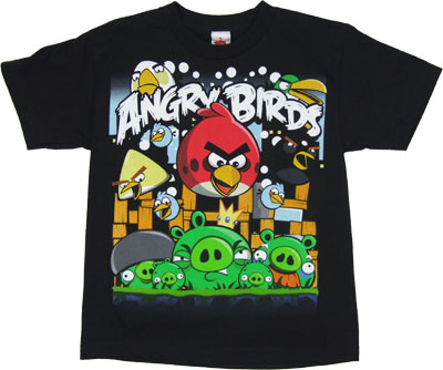 Angriest Attack - Angry Birds Youth T-shirt