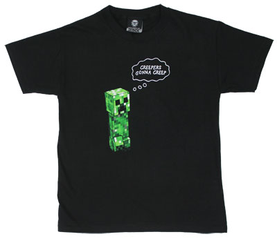 Creepers Gonna Creep - Minecraft Youth T-shirt
