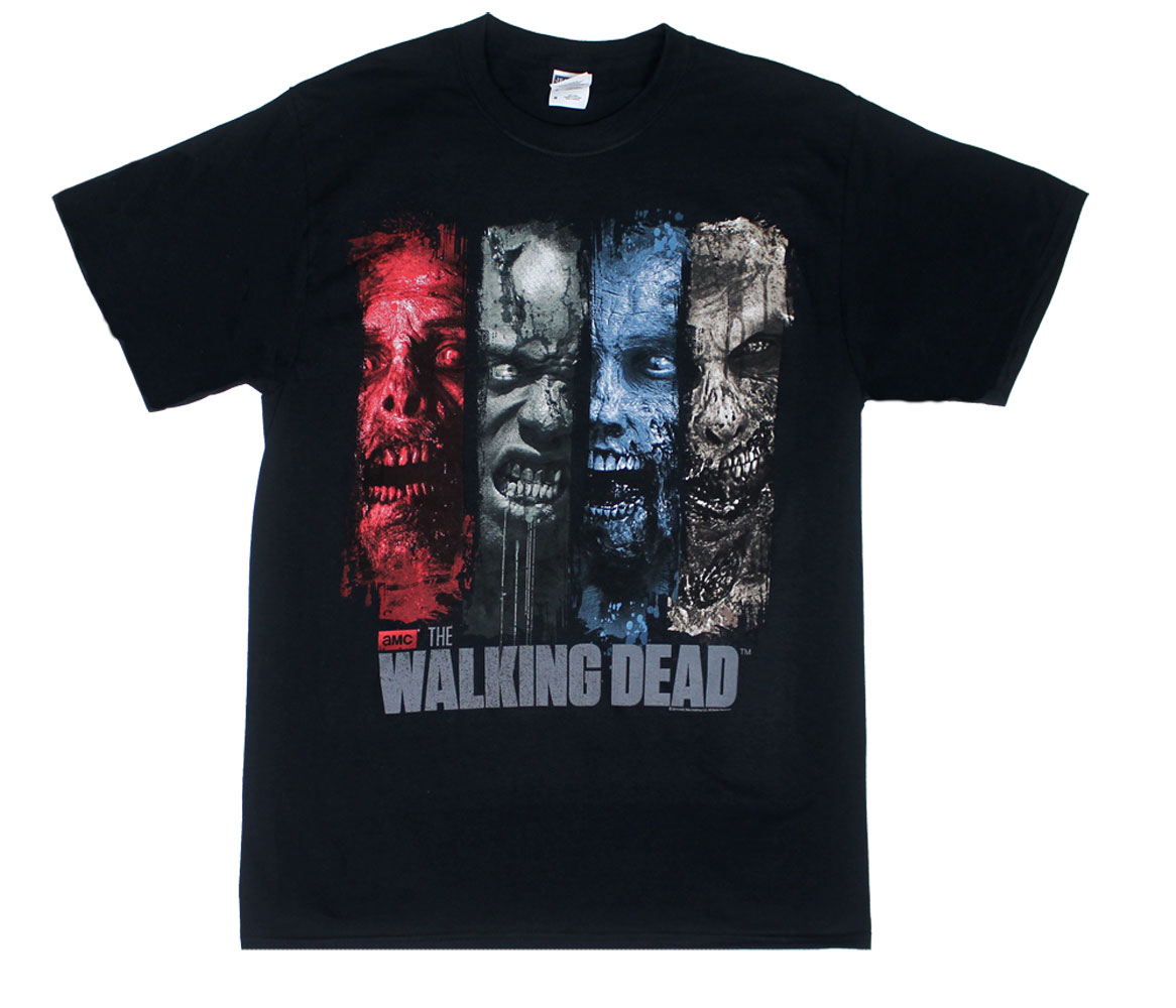 Brush Stroke Walkers - Walking Dead T-shirt