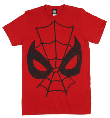 Spider-Man Face - Marvel Comics Sheer T-shirt