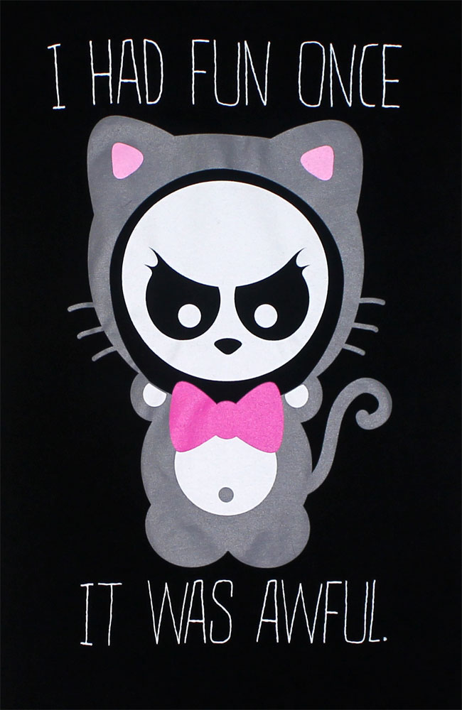 I Had Fun Once - Angry Panda Juniors T-shirt
