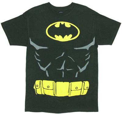 Batman Costume With Cape - DC Comics T-shirt