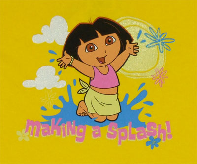 Making A Splash - Dora The Explorer Toddler T-shirt