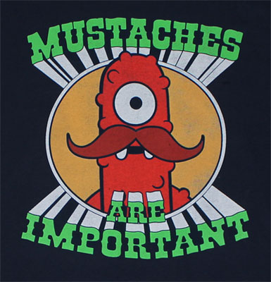 Mustaches Are Important - Yo Gabba Gabba! T-shirt