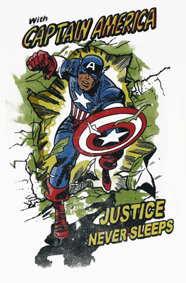 Justice Never Sleeps - Marvel Comics Sheer T-shirt