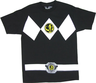 Black Ranger Costume - Mighty Morphin Power Rangers T-shirt