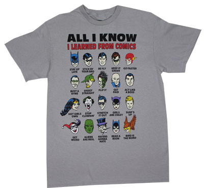 All I Know I Learned From Comics - DC Comics T-shirt