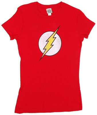 Flash Logo - DC Comics Sheer Women&#039;s T-shirt