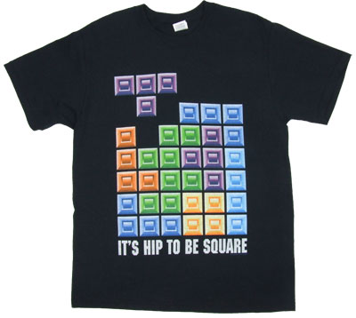 It's Hip To Be Square - Tetris T-shirt