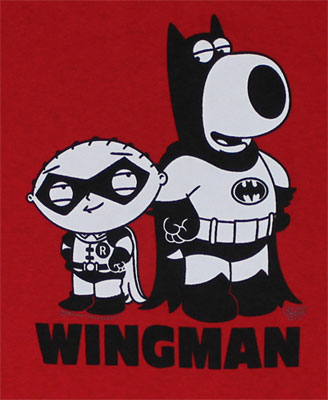 Wingman (Small Print) - Family Guy T-shirt