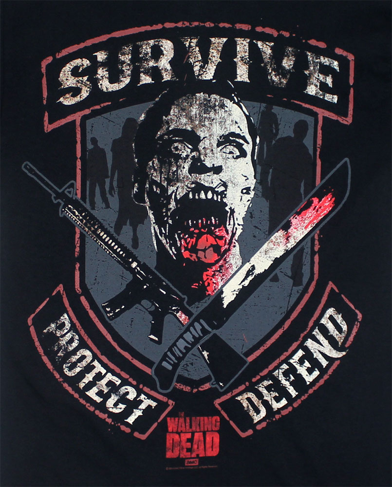 Survive Protect Defend - Walking Dead T-shirt