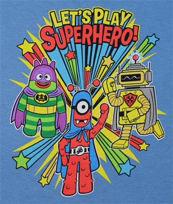 Let's Play Superhero! - Yo Gabba Gabba Toddler T-shirt