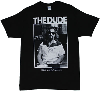 The Dude Portrait - Big Lebowski T-shirt