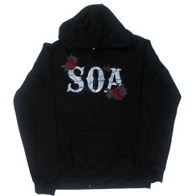 Rose Reaper - Sons Of Anarchy Womens Hooded Sweatshirt