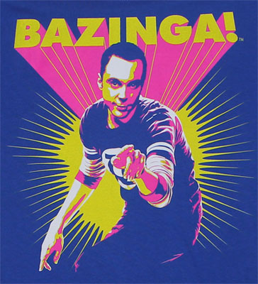 Neon Bazinga - Big Bang Theory Sheer Women's T-shirt