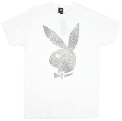 Distressed Playboy Bunny Logo - Playboy Sheer T-shirt 