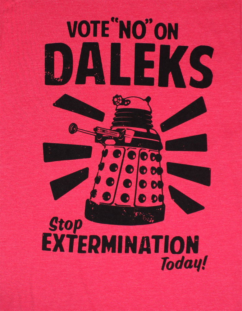 Vote No On Daleks - Dr. Who T-shirt