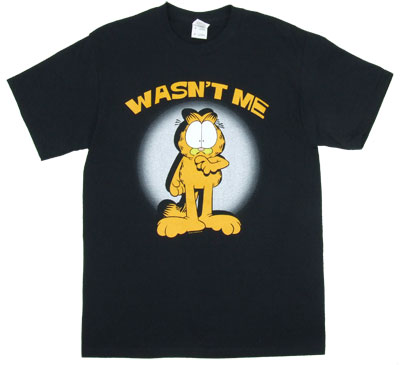 Wasn't Me - Garfield T-shirt