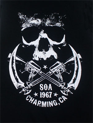 Crossed Weapons Logo - Sons Of Anarchy Muscle Tee