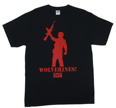 Wolverines Gun - Red Dawn T-shirt
