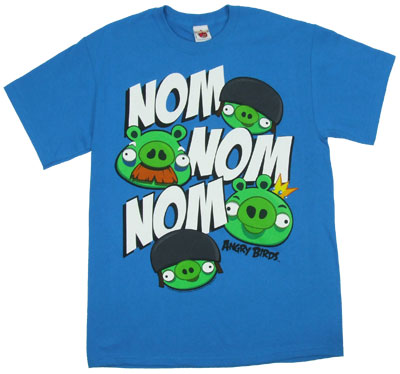 Nom Nom Nom - Angry Birds T-shirt