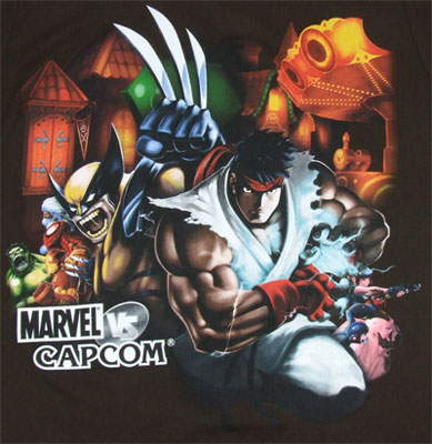 Street Fair - Marvel Vs. Capcom Sheer T-shirt