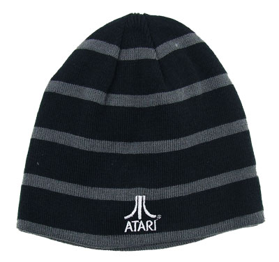 Atari Logo And Joystick - Atari Reversible Knit Hat