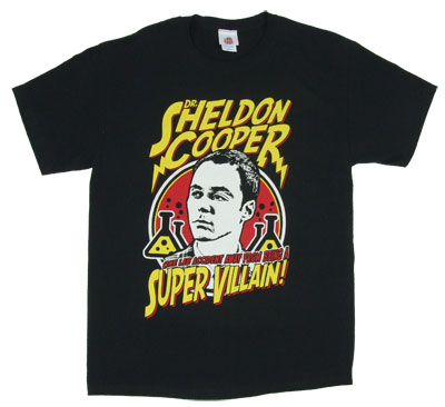 Dr. Sheldon Cooper Super Villain - Big Bang Theory T-shirt