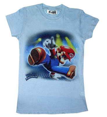 Dance Dance Revolution Mario Mix - Nintendo Photo-Sheer Women's T-shirt