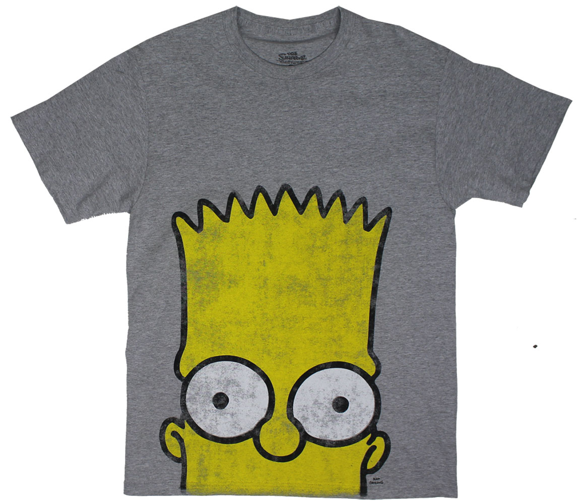 Distressed Bart Eyes - Simpsons T-shirt
