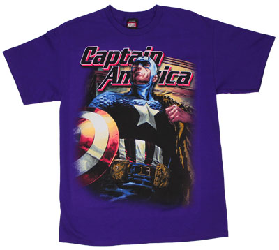 Captain On Purple - Marvel Comics T-shirt