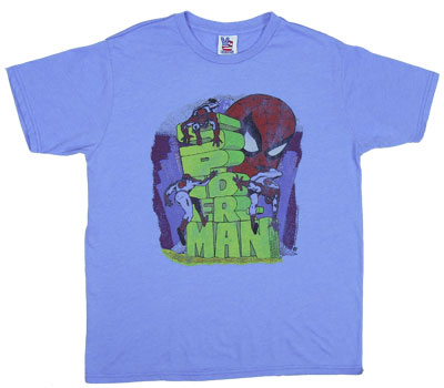 Spider-Man Blocks - Junk Food Men's T-shirt