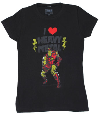 I Love Heavy Metal - Marvel Comics Sheer Women's T-shirt