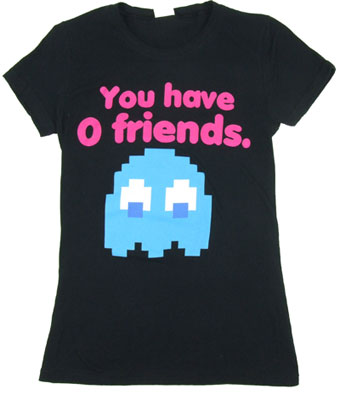 You Have 0 Friends - Pac-Man Sheer Women&#039;s T-shirt