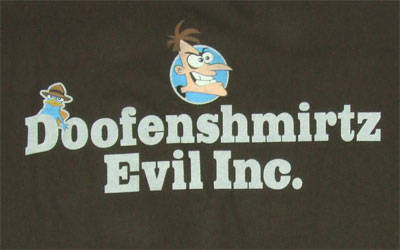 Doofenshmirtz Evil Inc - Phineas And Ferb Sheer T-shirt