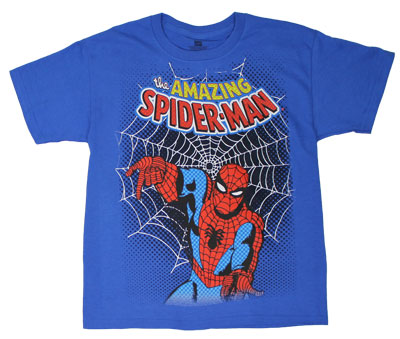 Spiderman Web - Marvel Comics Youth T-shirt