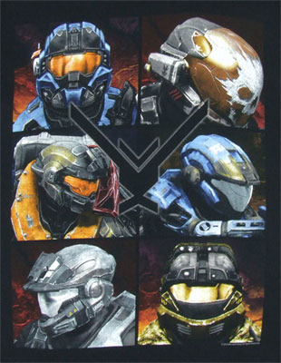 Noble Team - Halo Reach T-shirt