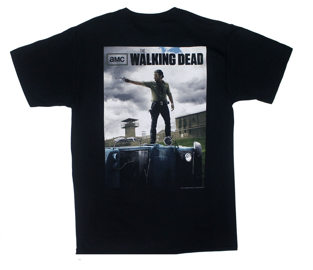 Rick Poster On Back - Walking Dead T-shirt