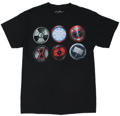 Six Logos - Avengers T-shirt