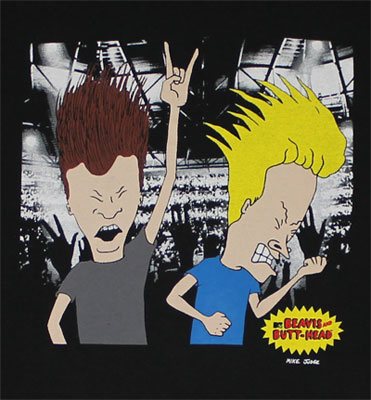 Live Concert - Beavis And Butthead T-shirt