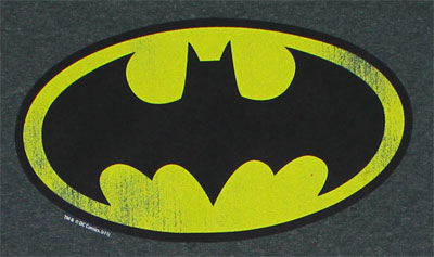 Batman Logo On Charcoal - DC Comics T-shirt