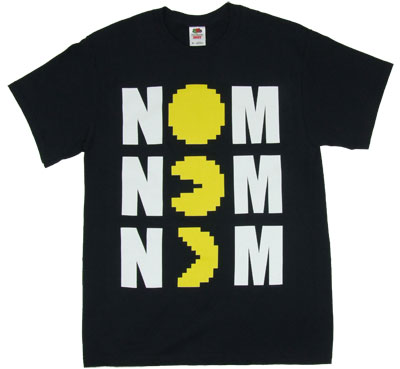 Nom Nom Nom - Pac-Man T-shirt