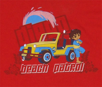 Beach Patrol - Go Diego Go Youth T-shirt