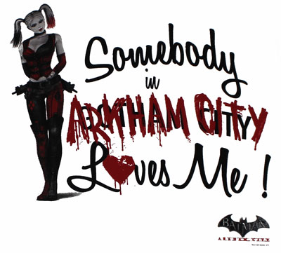 Somebody Loves Me - Batman Arkham City T-shirt