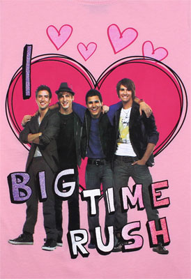 I Heart Big Time Rush - Big Time Rush Girls T-shirt