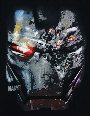 War Machine Face - Marvel Comics T-shirt