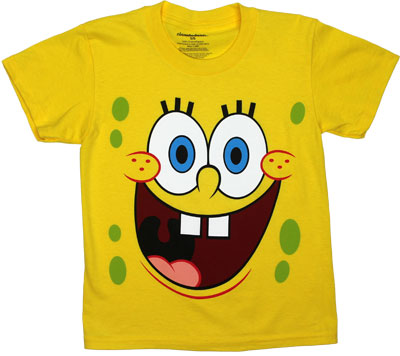 Spongebob Face - Spongebob Squarepants Juvenile T-shirt