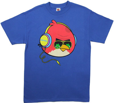 DJ Red Bird - Angry Birds T-shirt