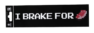 I Brake For Porkchop - Minecraft Bumper Sticker