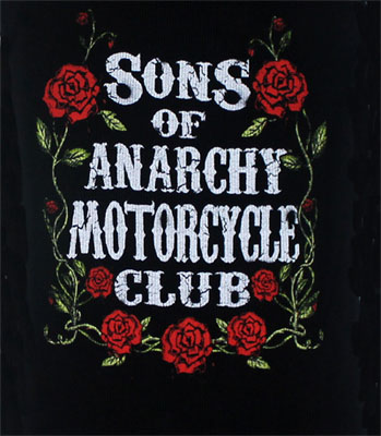 Motorcycle Club Roses - Sons Of Anarchy Juniors Tank Top